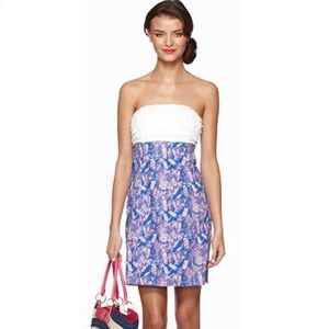 Lilly Pulitzer Franco Strapless Dress Cherry Bombs